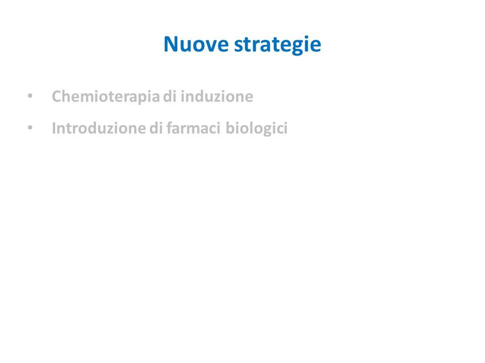 Chemioterapia di induzione Introduzione di farmaci biologici Nuove strategie