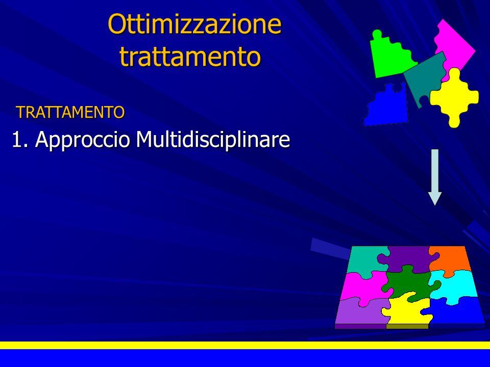 Ottimizzazione Ottimizzazionetrattamento TRATTAMENTO TRATTAMENTO 1.Approccio Multidisciplinare