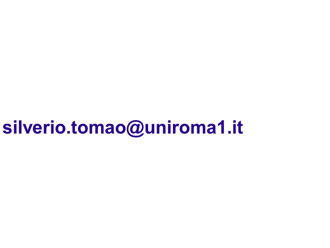 silverio.tomao@uniroma1.it