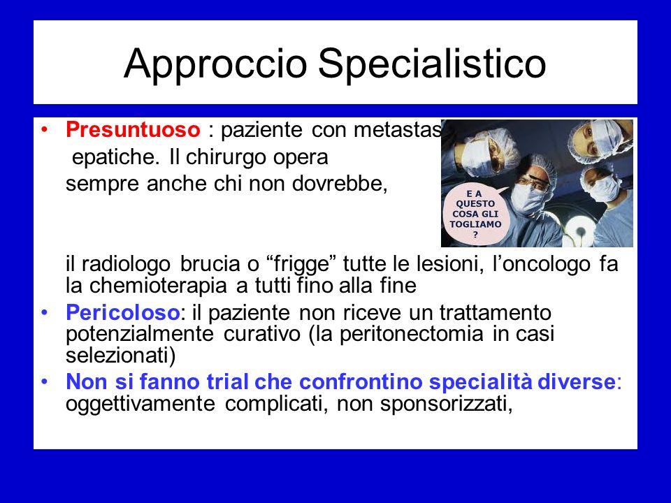 Approccio Specialistico Presuntuoso : paziente con metastasi epatiche.