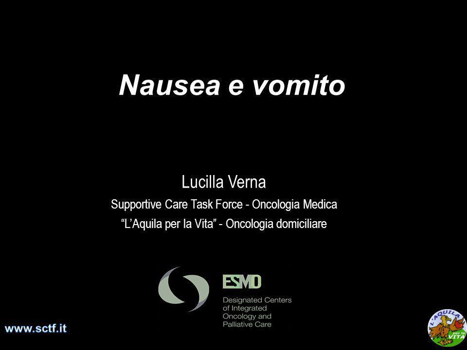 Nausea e vomito Lucilla Verna Supportive Care Task Force - Oncologia Medica LAquila per la Vita - Oncologia domiciliare
