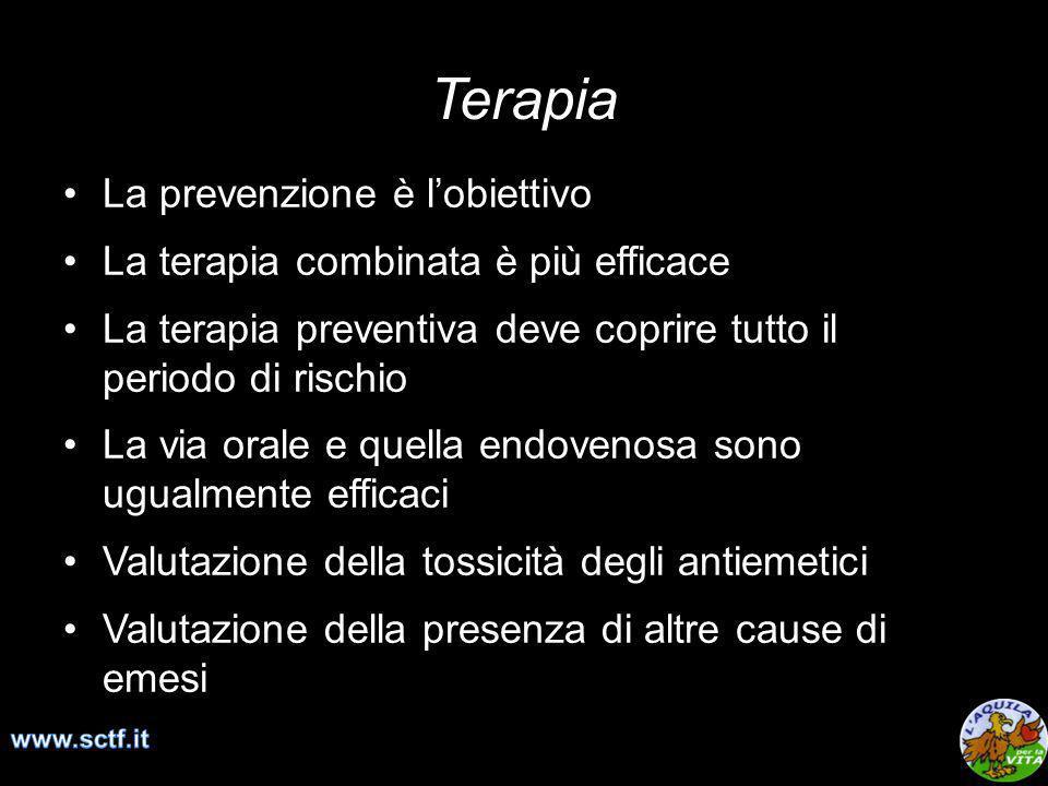 La prevenzione è lobiettivo La terapia combinata è più efficace La terapia preventiva deve coprire tutto il periodo di rischio La via orale e quella e