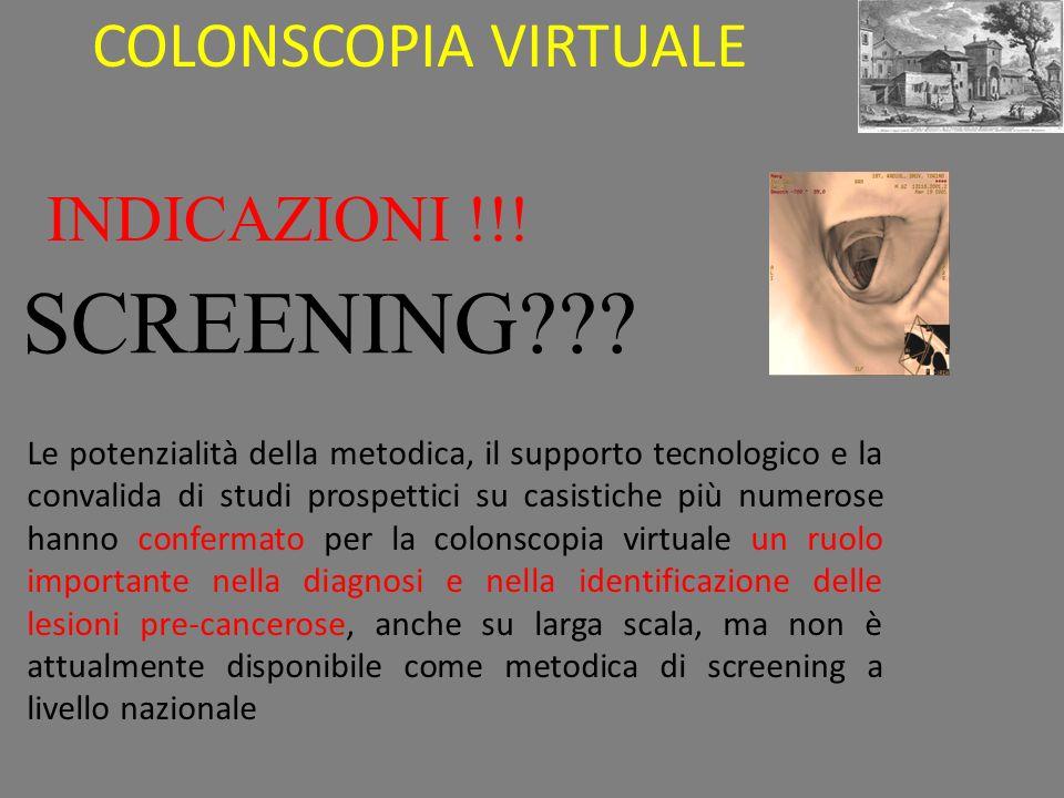 INDICAZIONI !!.SCREENING??.