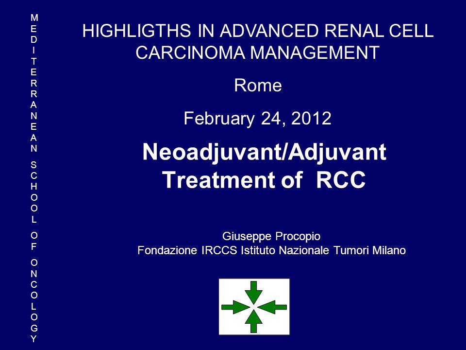 Studi completati di terapia adiuvante nel RCC TrattamentoN.AutoreRisultato Cellule tum.