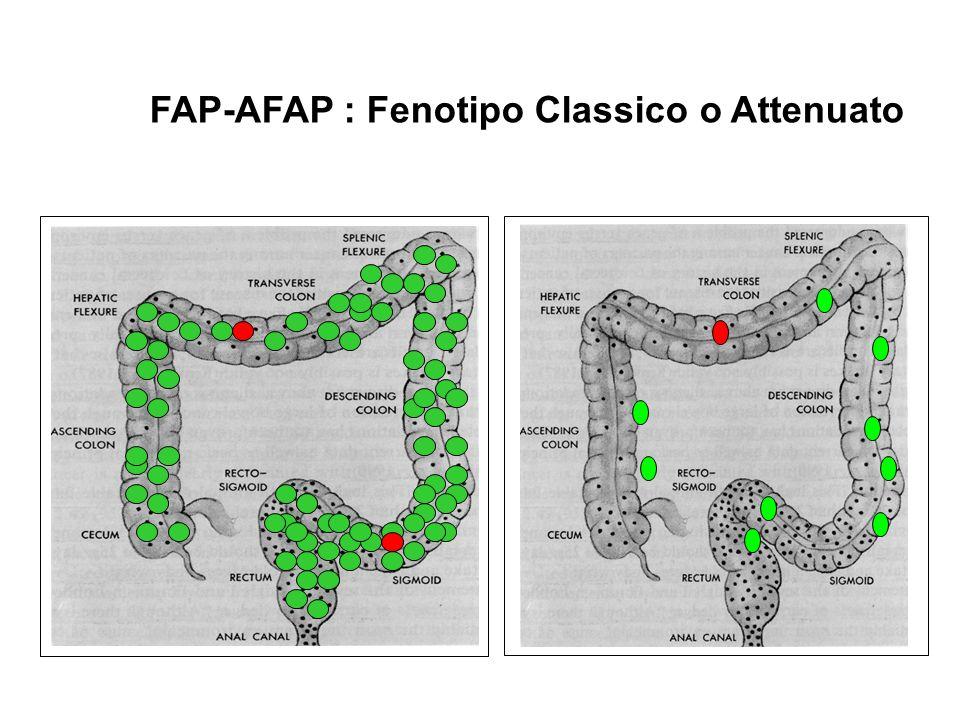 FAP-AFAP : Fenotipo Classico o Attenuato
