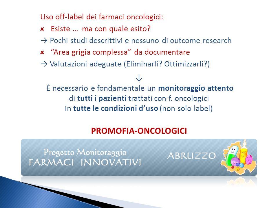 È necessario e fondamentale un monitoraggio attento di tutti i pazienti trattati con f. oncologici in tutte le condizioni duso (non solo label) PROMOF