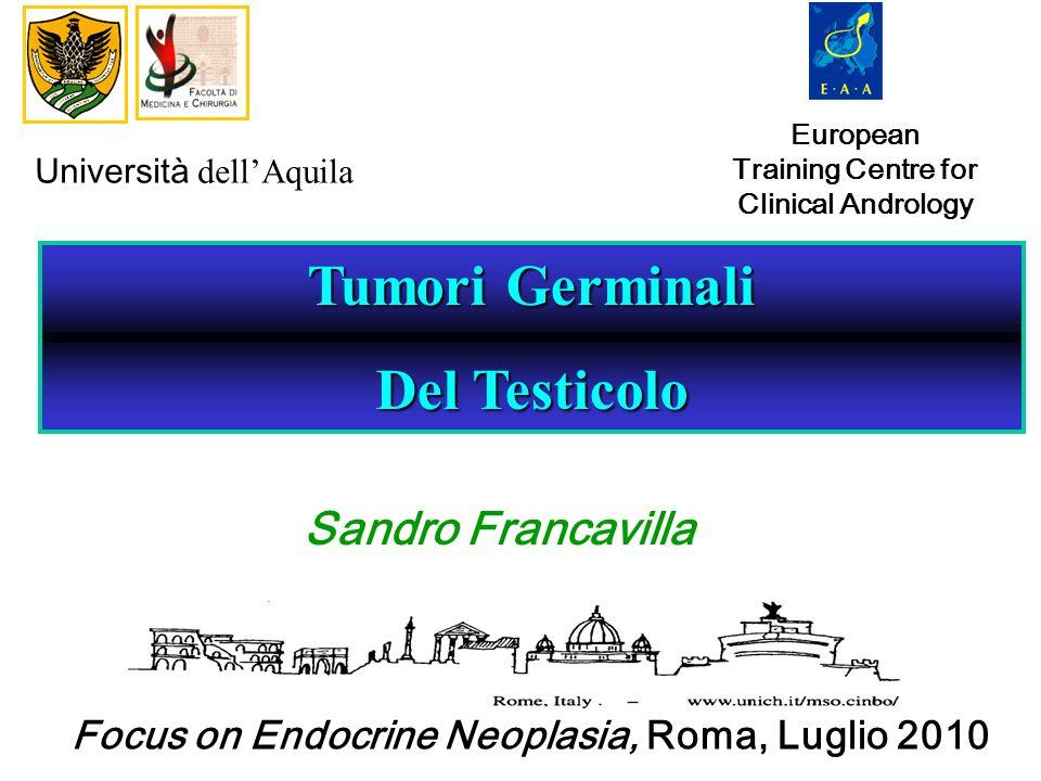 McGlynn, J Clin Oncol 2005 GCT E il tumore maschile più diffuso nelle fascia di età tra i 15 ed i 45 anni EPIDEMIOLOGIA