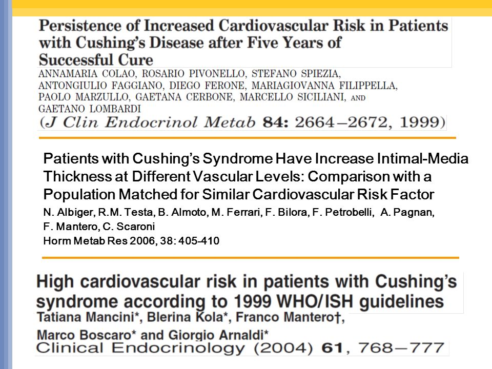 Patients with Cushings Syndrome Have Increase Intimal-Media Thickness at Different Vascular Levels: Comparison with a Population Matched for Similar C