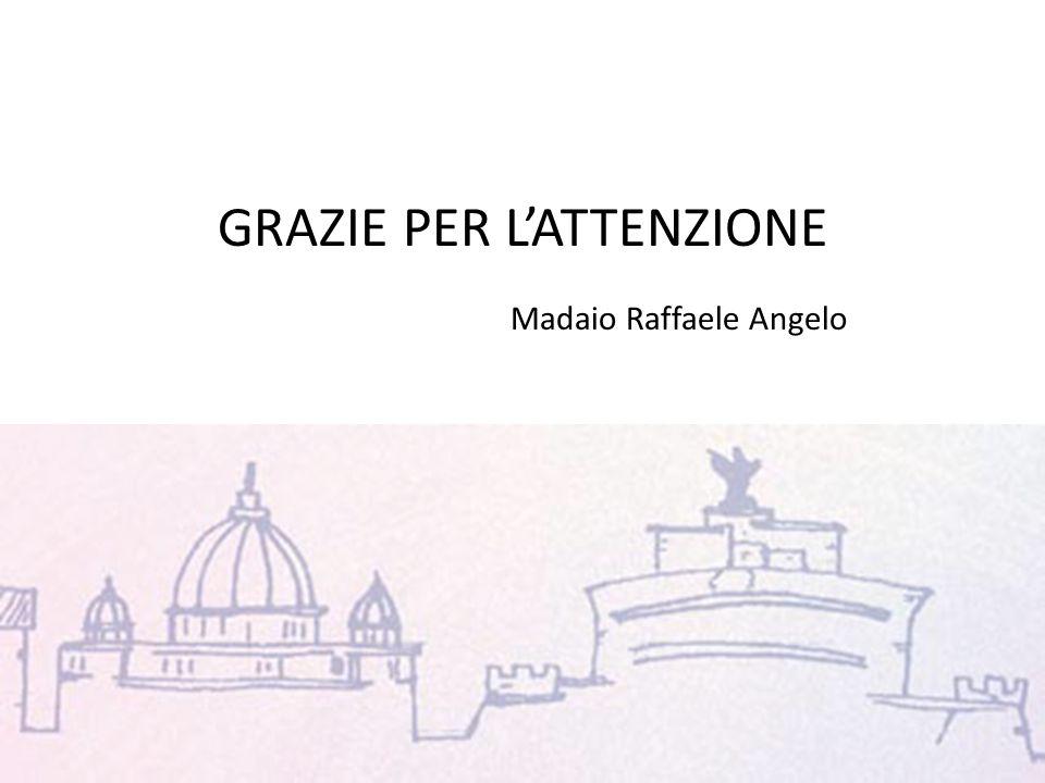 GRAZIE PER LATTENZIONE Madaio Raffaele Angelo uuu