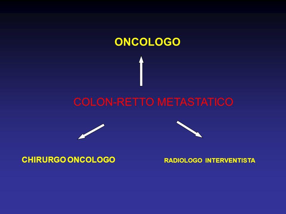 COLON-RETTO METASTATICO RADIOLOGO INTERVENTISTA CHIRURGO ONCOLOGO ONCOLOGO