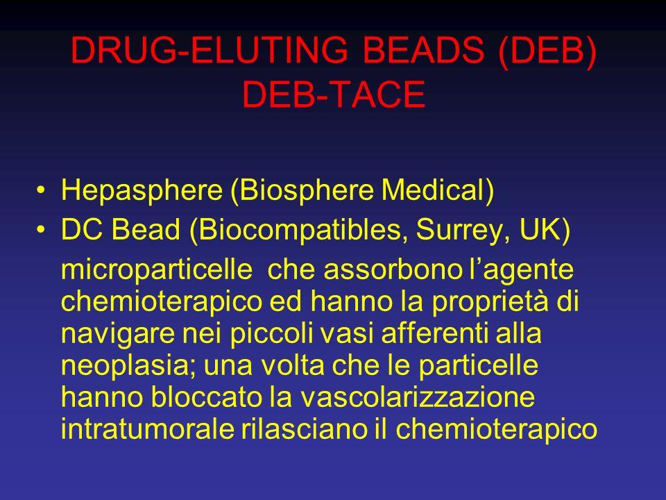 DRUG-ELUTING BEADS (DEB) DEB-TACE Hepasphere (Biosphere Medical) DC Bead (Biocompatibles, Surrey, UK) microparticelle che assorbono lagente chemiotera