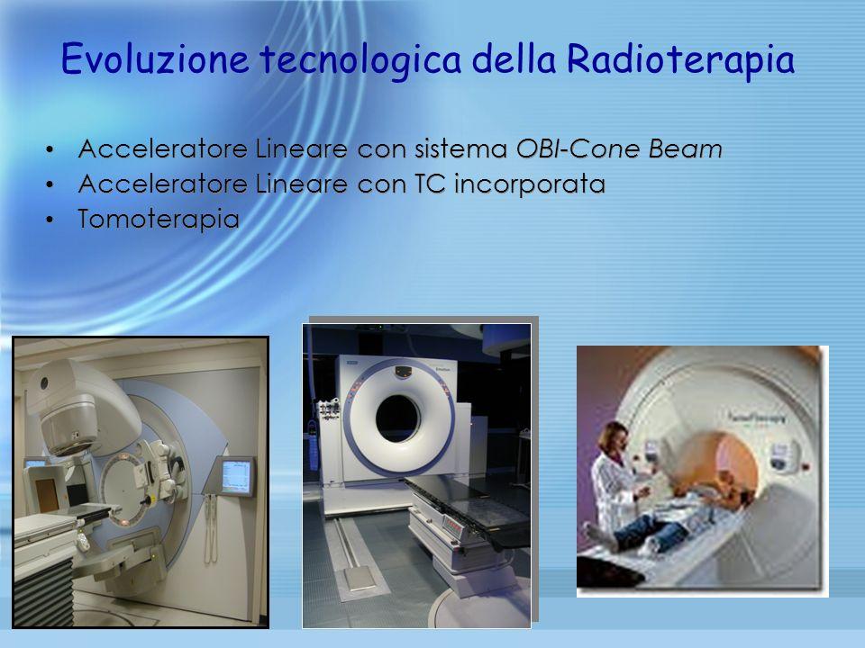Acceleratore Lineare con sistema OBI-Cone Beam Acceleratore Lineare con TC incorporata Tomoterapia Evoluzione tecnologica della Radioterapia