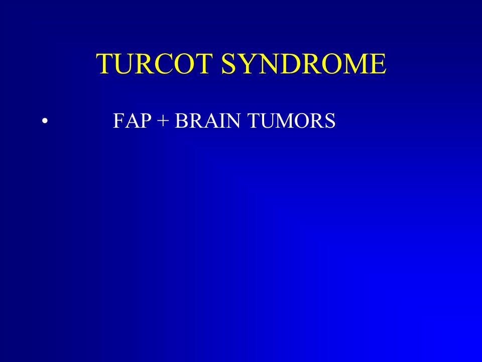 FAP : Gardner syndrome Polypi + bone osteomata tooth abnormalities lipomata fibromata pancreas carcinoma liver carcinoma thyroid carcinoma gastric and