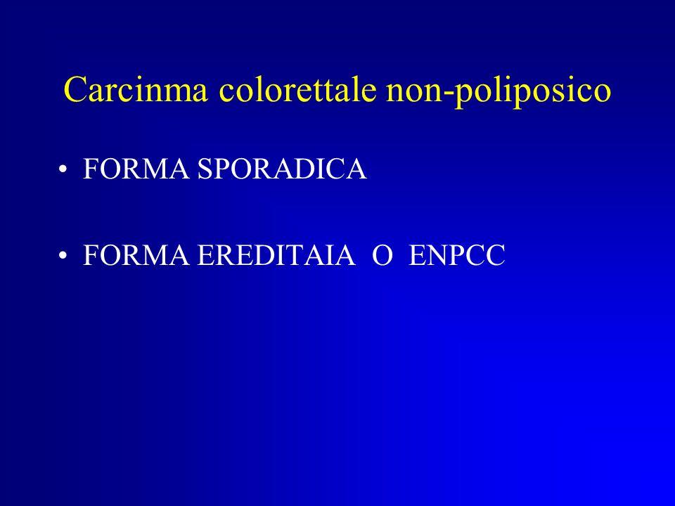 Carcinoma colorettale non- poliposico