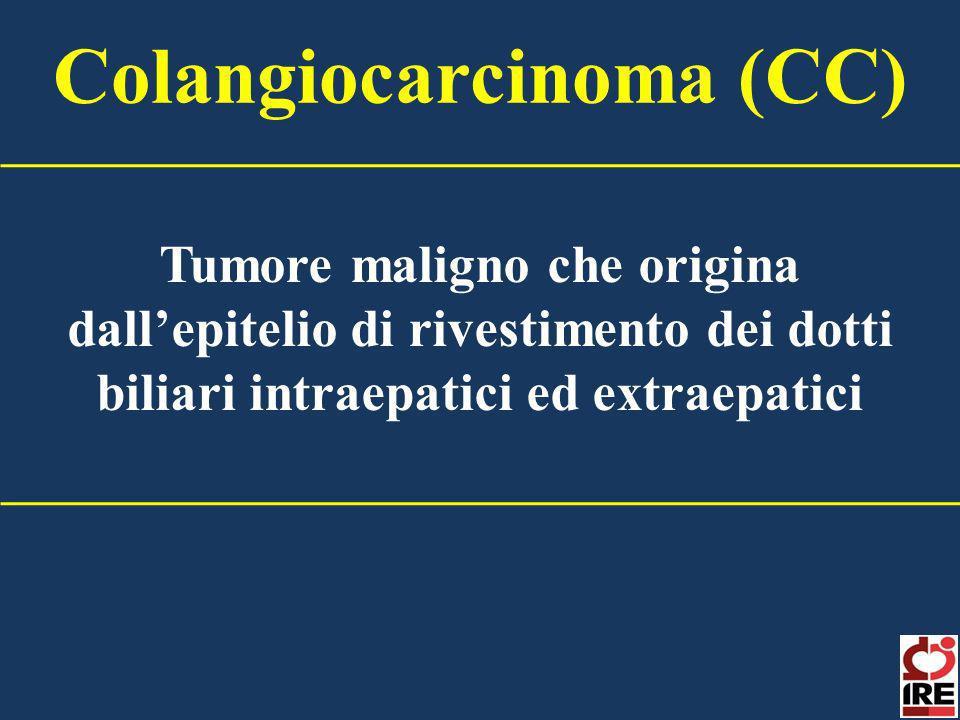 Tumore maligno che origina dallepitelio di rivestimento dei dotti biliari intraepatici ed extraepatici Colangiocarcinoma (CC)