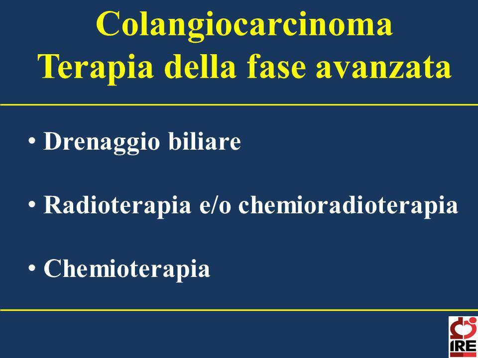 Colangiocarcinoma Terapia della fase avanzata Drenaggio biliare Radioterapia e/o chemioradioterapia Chemioterapia