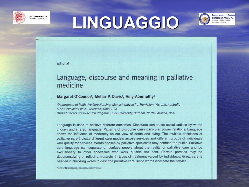 ALMA MATER STUDIORUM UNIVERSITA DI BOLOGNA LINGUAGGIO