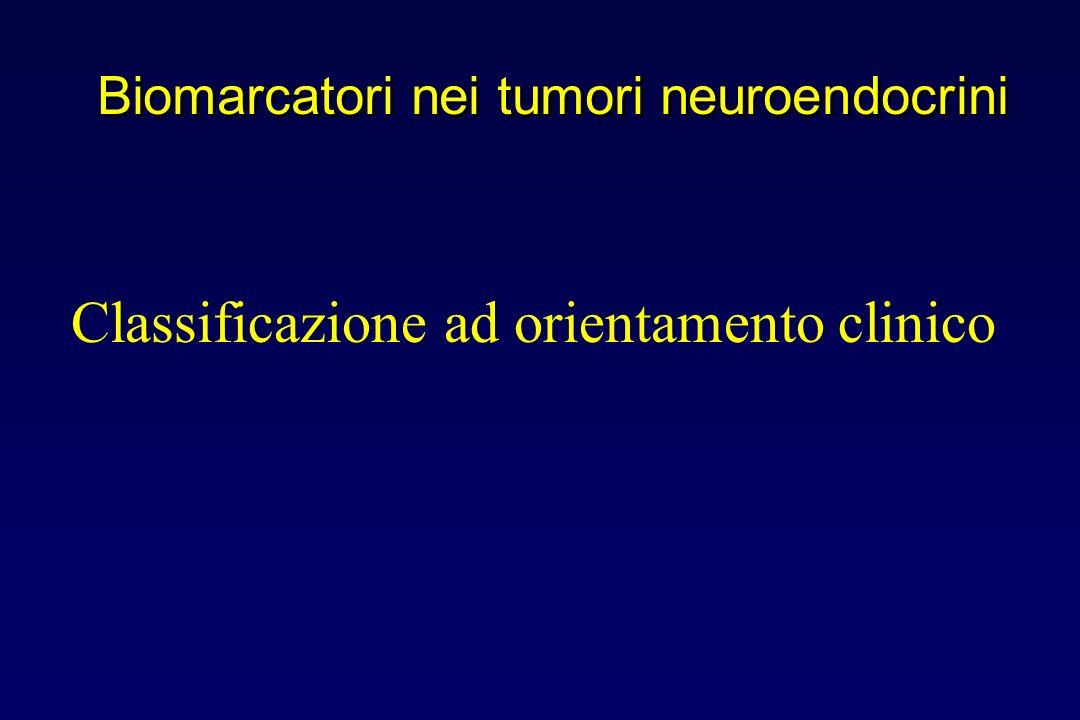 Classificazione ad orientamento clinico Biomarcatori nei tumori neuroendocrini