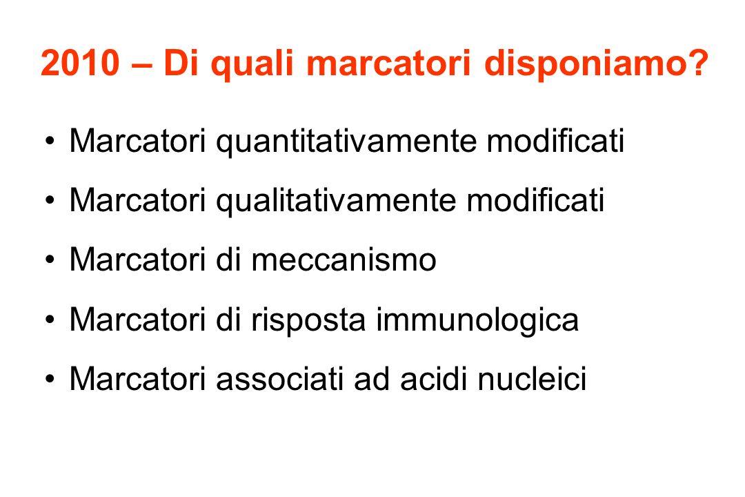 Metastasi a partenza ignota Possibili ruoli dei marcatori Diagnosi di tumore (sono metastasi).
