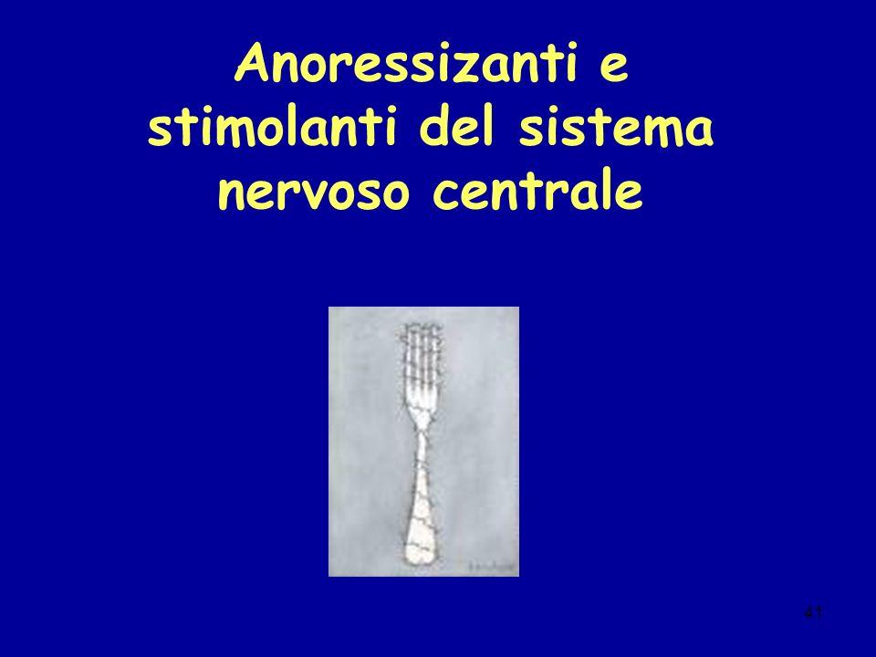 41 Anoressizanti e stimolanti del sistema nervoso centrale
