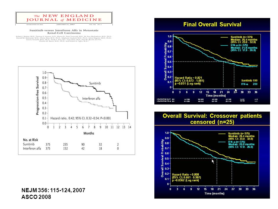 Motzer R et al. N Engl J Med 2007;356:115-124 NEJM 356: 115-124, 2007 ASCO 2008