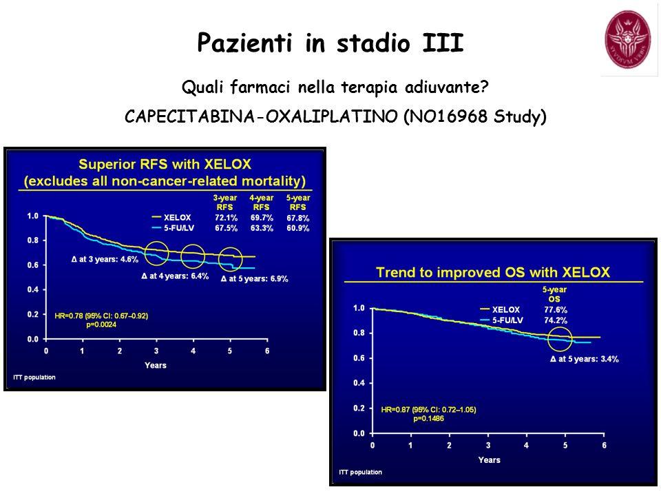 Pazienti in stadio III Quali farmaci nella terapia adiuvante.