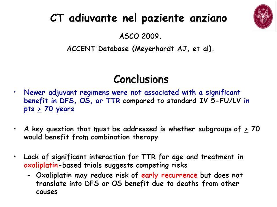 ASCO 2009.ACCENT Database (Meyerhardt AJ, et al).