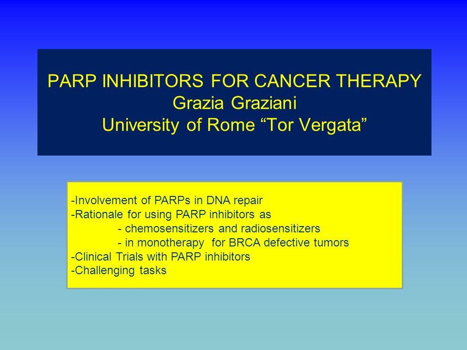 Indicare quale tra queste affermazioni riguardante gli inibitori di PARP è SBAGLIATA: 1.LIniparib è un inibitore di PARP irreversibile, non competitivo 2.La mancata formazione di foci di RAD51 nel tumore in seguito a trattamento con inibitore di PARP potrebbe rappresentare un fattore predittivo di risposta al farmaco 3.I tumori ovarici associati a mutazioni di BRCA1 o BRCA2 e sensibili ai composti del platino sono in genere più sensibili agli inibitori di PARP rispetto ai tumori refrattari al platino (cioè che vanno in progressione durante la terapia con composti del platino) 4.Olaparib, un inibitore di PARP che supera la barriera emato-encefalica, in studi di fase II è stato associato a carboplatino e gemcitabina per il trattamento del glioblastoma multiforme 5.La resistenza agli inibitori di PARP può essere dovuta a nuove mutazioni di BRCA1 o BRCA2, che ripristinano lespressione della normale proteina corrispondente, o ad elevata espressione di pompe di efflusso della famiglia della Multi Drug Resistance 20% EdiVoteStartEdiVoteStop 000 Standard 010