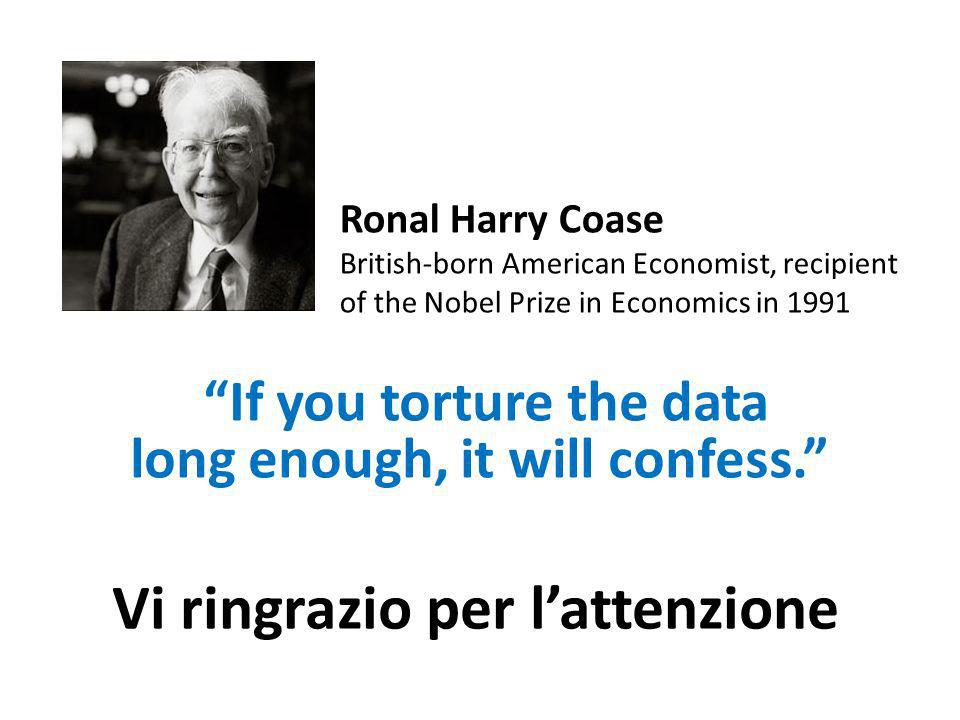 Ronal Harry Coase British-born American Economist, recipient of the Nobel Prize in Economics in 1991 If you torture the data long enough, it will confess.