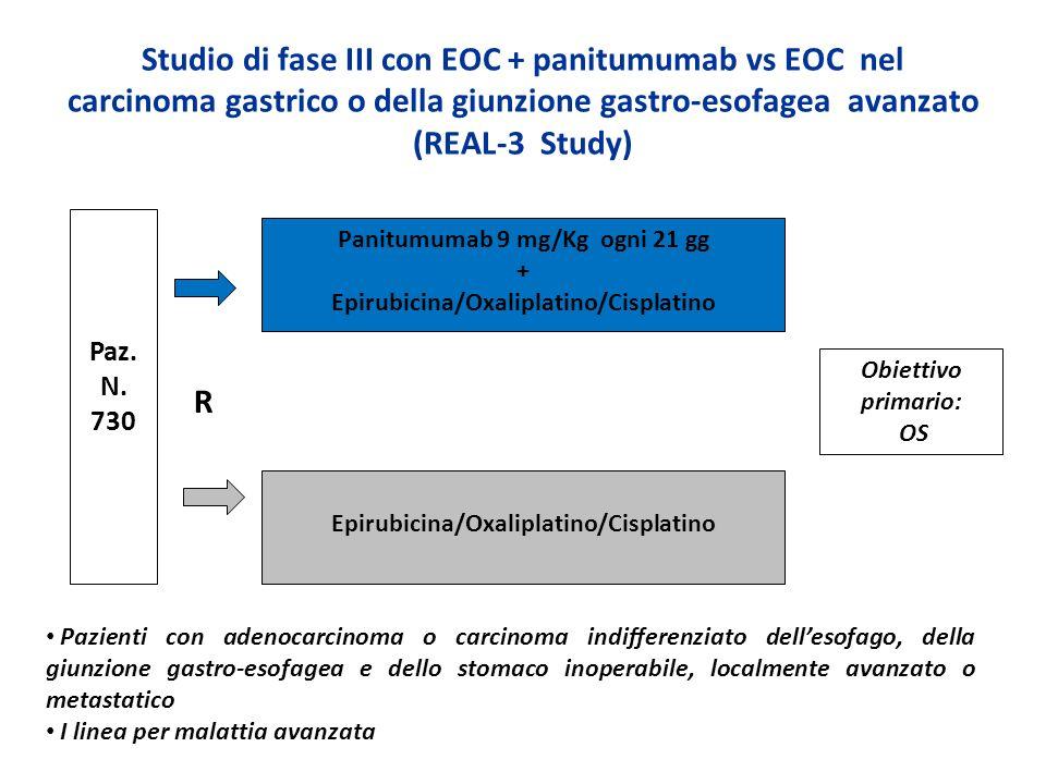 Studio di fase III con EOC + panitumumab vs EOC nel carcinoma gastrico o della giunzione gastro-esofagea avanzato (REAL-3 Study) Paz. N. 730 Panitumum