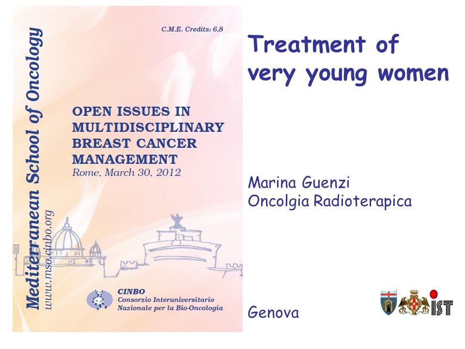 Treatment of very young women Marina Guenzi Oncolgia Radioterapica Genova