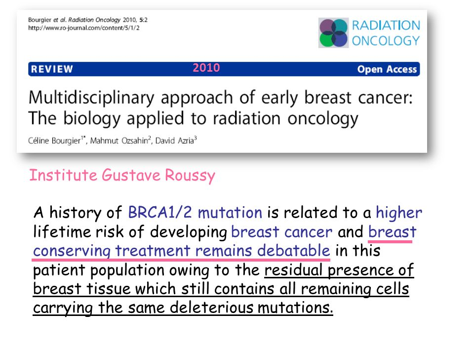A history of BRCA1/2 mutation is related to a higher lifetime risk of developing breast cancer and breast conserving treatment remains debatable in th