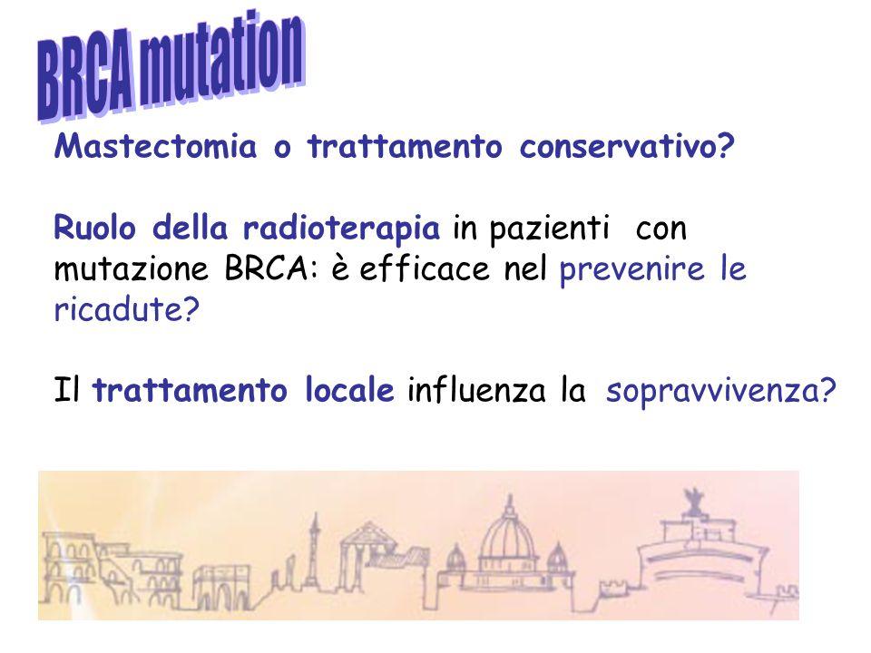 Mastectomia o trattamento conservativo? Ruolo della radioterapia in pazienti con mutazione BRCA: è efficace nel prevenire le ricadute? Il trattamento