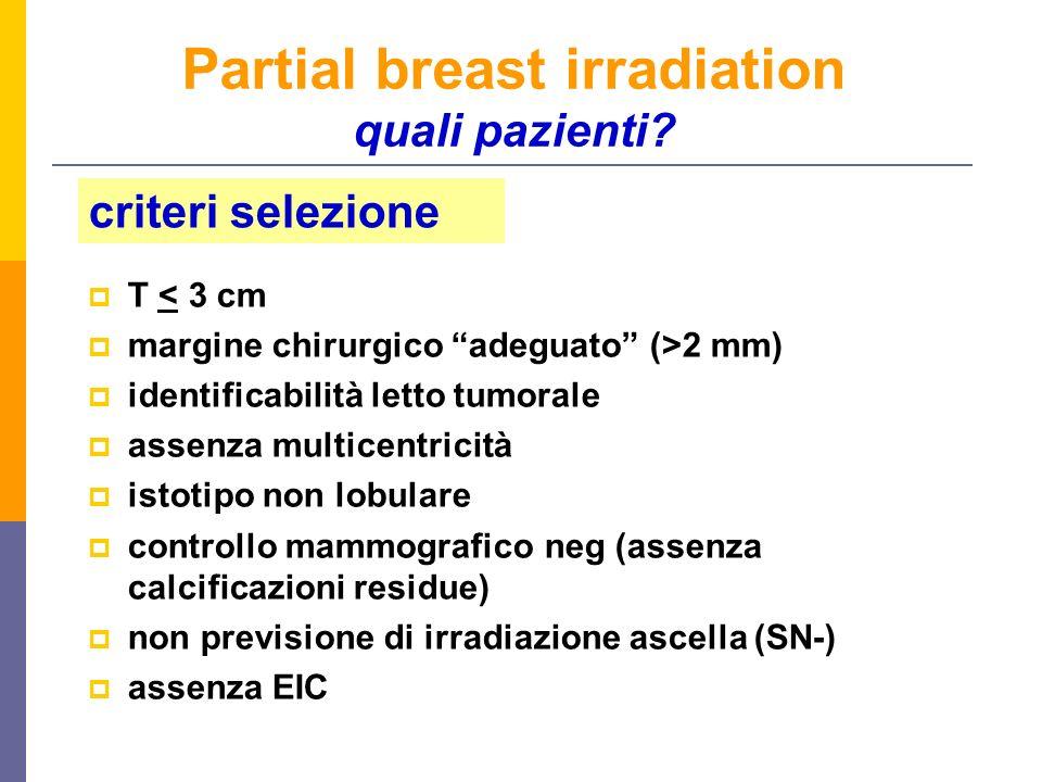 Partial breast irradiation quali pazienti.