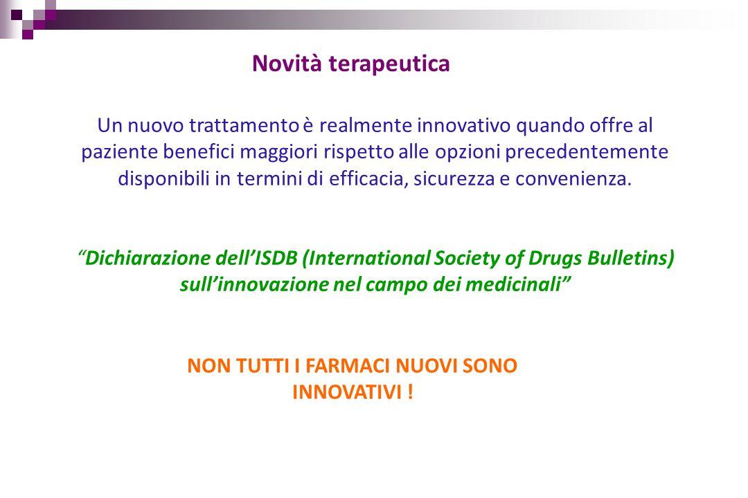 Farmaci innovativi in Oncologia: criticità 1.Costi elevati 2.