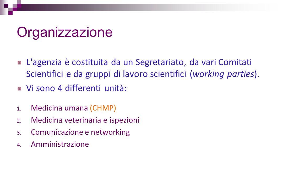 Organizzazione L'agenzia è costituita da un Segretariato, da vari Comitati Scientifici e da gruppi di lavoro scientifici (working parties). Vi sono 4