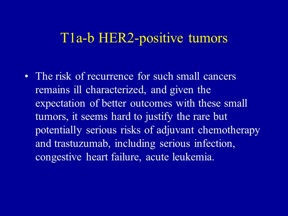 The risk of recurrence for such small cancers remains ill characterized, and given the expectation of better outcomes with these small tumors, it seem