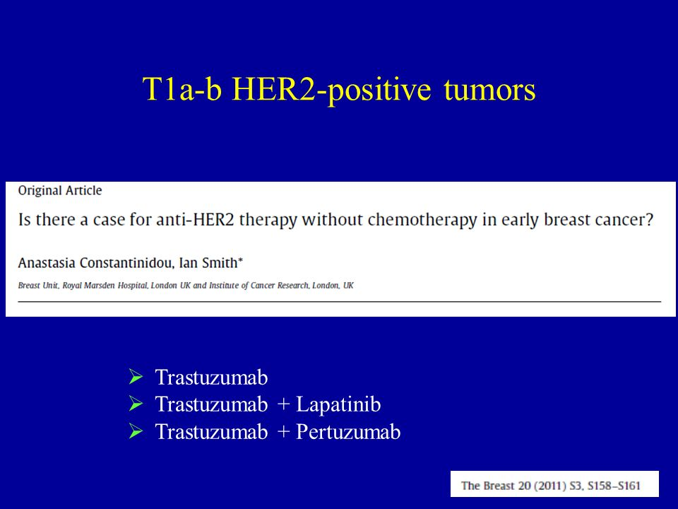 Trastuzumab Trastuzumab + Lapatinib Trastuzumab + Pertuzumab