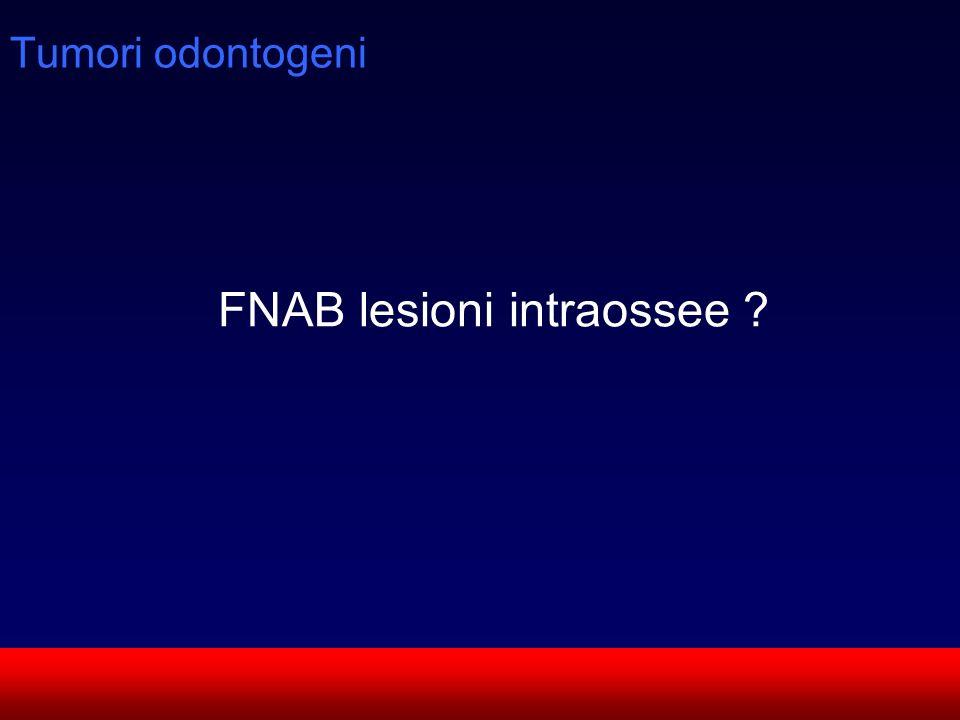 SUN CMF Tumori odontogeni FNAB lesioni intraossee ?