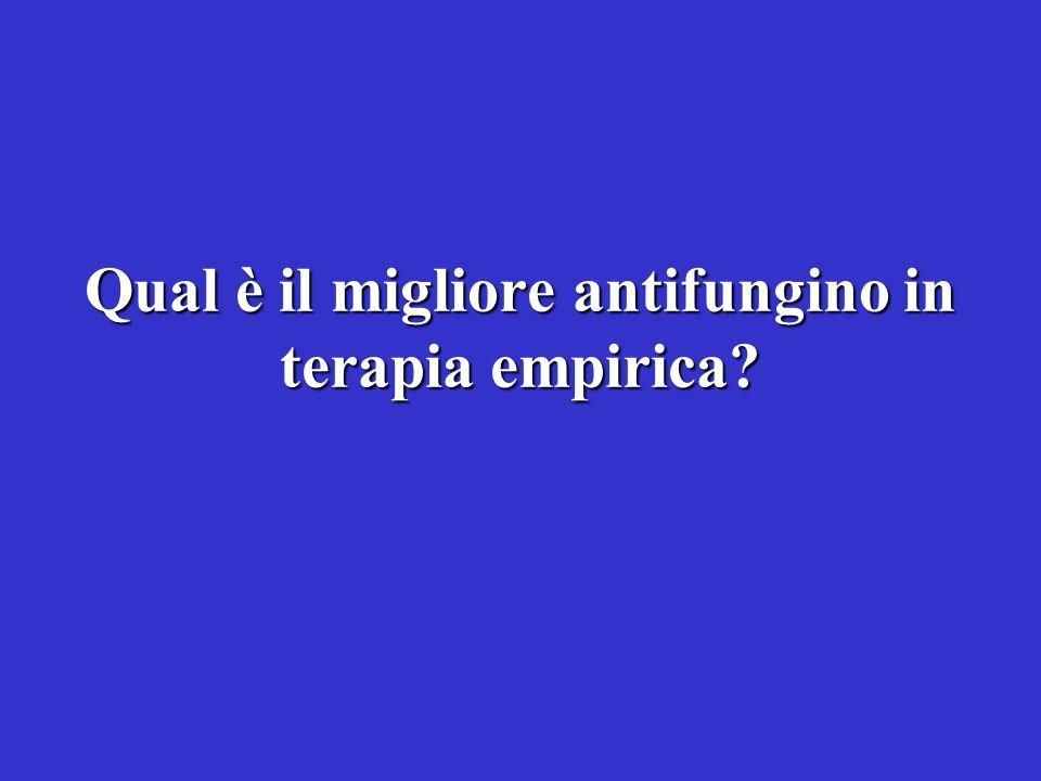 Qual è il migliore antifungino in terapia empirica?