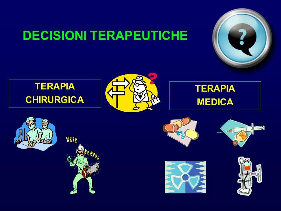 DECISIONI TERAPEUTICHE TERAPIA CHIRURGICA TERAPIA MEDICA