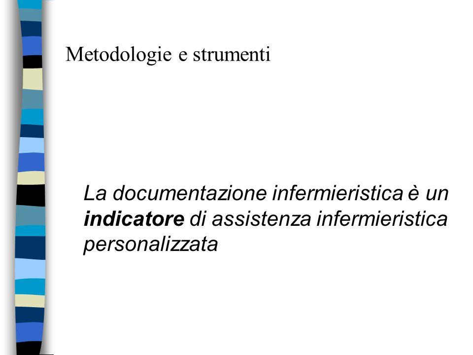 Metodologie e strumenti La documentazione infermieristica è un indicatore di assistenza infermieristica personalizzata