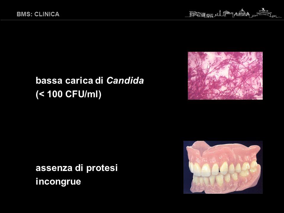 BMS: CLINICA assenza di allergie a materiali odontoiatrici valori di laboratorio normali (glicemia, sideremia, ferritina, folati, vit B 12 …)