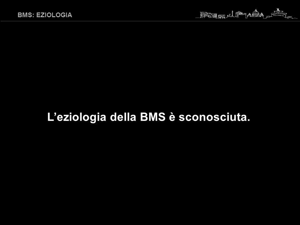 BMS: EZIOLOGIA IPOTESI MULTIFATTORIALE Presenza di fattori causali e/o precipitanti: Iposalivazione (sialometria) Deficit o carenze (sideremia, ferritina, CLF, vit B 12, folati) Alterazioni metaboliche (glicemia…) Allergie (test) Infezioni (valutazione Candida) Valutazioni psicologiche (questionari, consulenze…) Tourne L 1992, Bergdahl J 1993, Lamey PJ 1996, Cibirka RM 1997