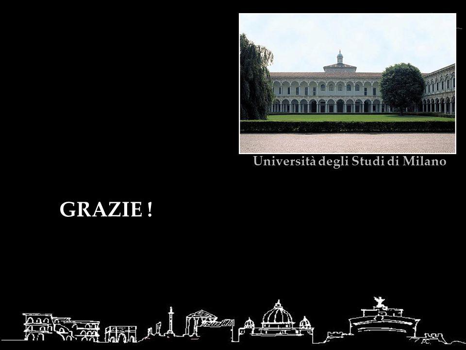 GRAZIE ! Università degli Studi di Milano