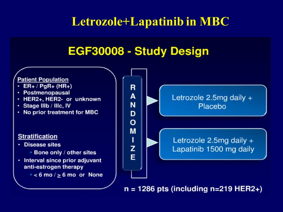 Letrozole+Lapatinib in MBC