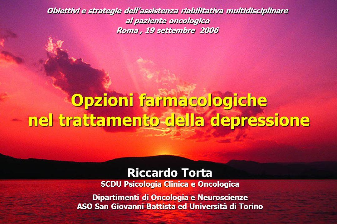 Obiettivi e strategie dellassistenza riabilitativa multidisciplinare al paziente oncologico Roma, 19 settembre 2006 Riccardo Torta SCDU Psicologia Cli