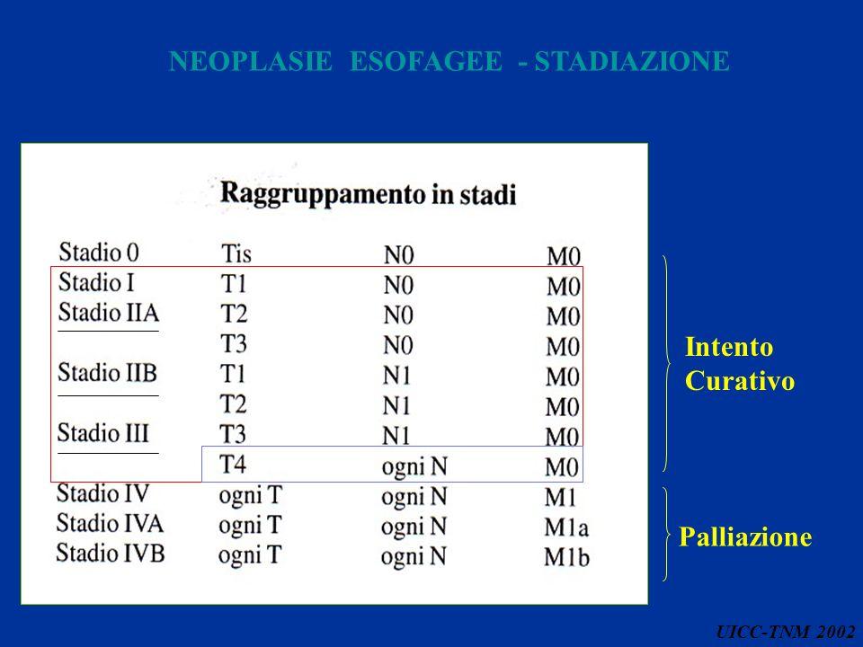 NEOPLASIE ESOFAGEE - STADIAZIONE UICC-TNM 2002 Palliazione Intento Curativo