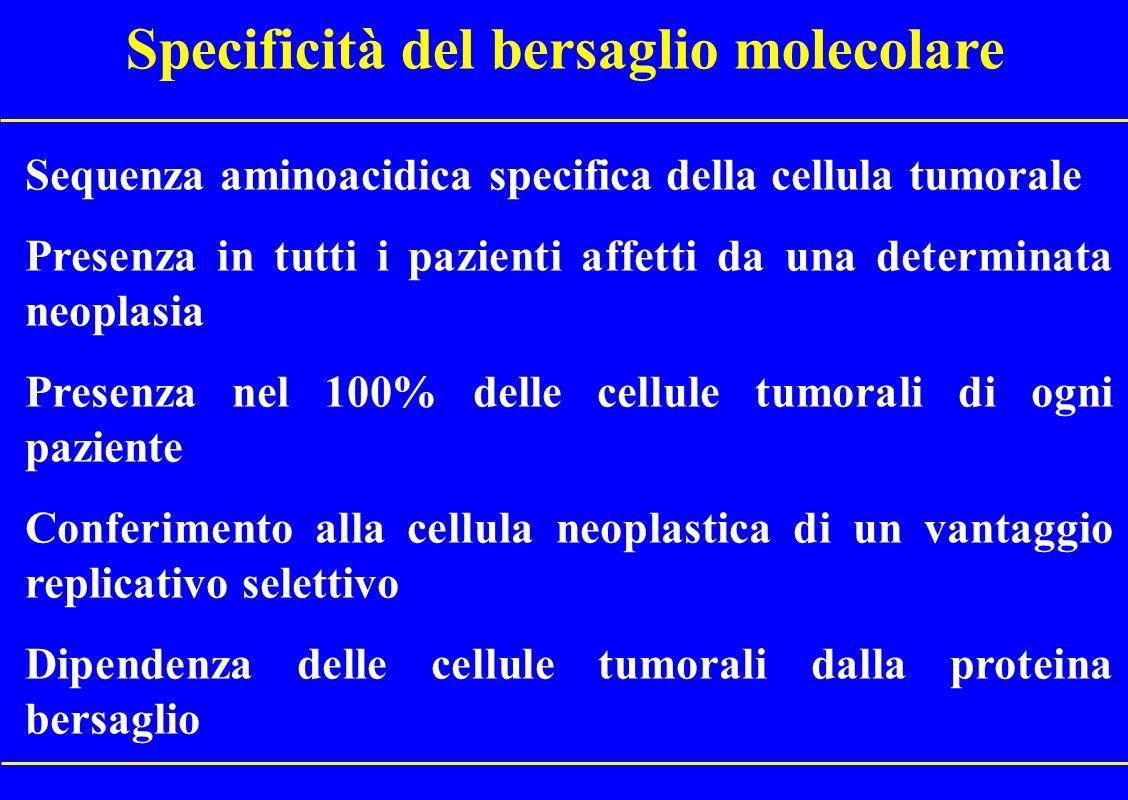 Terapia molecolare Dobbiamo con questo termine intendere una terapia che ha un solo bersaglio molecolare?