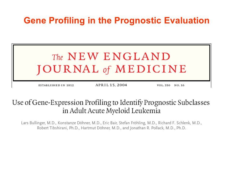 Gene Profiling in the Prognostic Evaluation